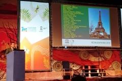 Ο καθηγητής κ. Patrick Mc Keever, Γραμματέας του Διεθνούς Προγράμματος Γεωεπιστημών και Γεωπάρκων UNESCO και επικεφαλής του τομέα Γεωεπιστημών & αντιμετώπισηςΦυσικών Καταστροφών της UNESCO, ανακοινώνει τα αποτελέσματα της αξιολόγησης